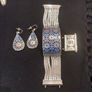 Brighton earrings and cuff bracelet set